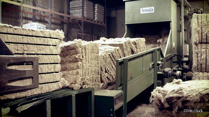 ヘンプ断熱材の製造